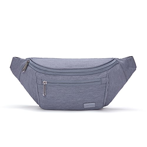 TINYAT Travel Fanny Bag Waist Pack Sling Pocket Super Lightweight For Workout Vacation Hiking, Tool Kit T206, Grey