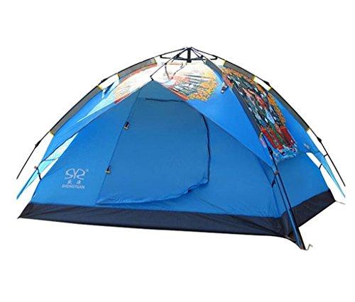 邪魔カヌー防水自動屋外の10トン3-4人ダブルドアのキャンプのテント (色 : 5#, サイズ さいず : 3.5kg)