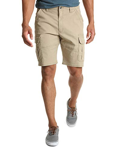Wrangler Authentics Men's Big & Tall Classic Relaxed Fit Stretch Cargo Short, grain twill 52