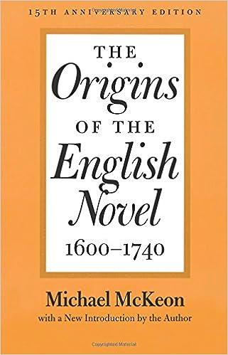 Amazon.com: The Origins of the English Novel, 1600-1740 ...
