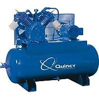 - Quincy QT-15 Splash Lubricated Reciprocating Air Compressor - 15 HP, 230 Volt, 3 Phase, 120 Gallon Horizontal, Model# 2153DS12HCA23