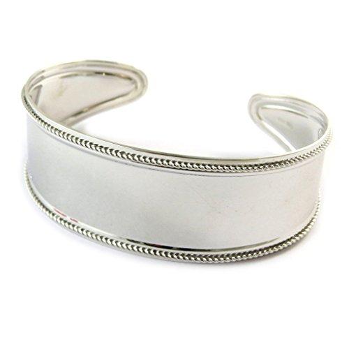 """Les Trésors De Lily [N9248] - Bracelet Argent """"Cleopatra"""" - 60 mm 23 mm"""