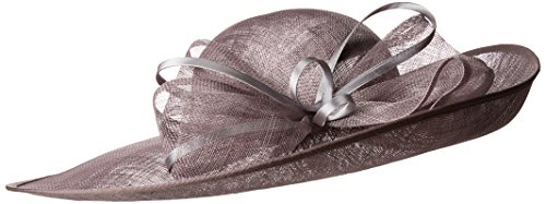 San Diego Hat Company Women's Derby Dressy Hat with Satin Bow, Charcoal, One Size by San Diego Hat Company