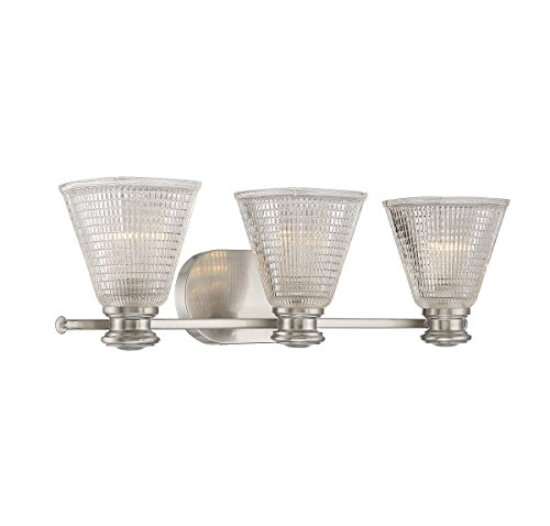 Halophane 3 Light - Savoy House 8-2090-3-SN Thorpe 3-Light Bath Bar in Satin Nickel