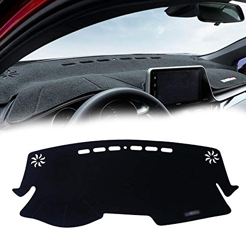 GTINTHEBOX Custom Fit Dashboard Black Center Non-Slip Console Cover Dash Mat Protector Sunshield Cover Pad for 2017 2018 2019 Toyota CHR CH-R - Custom Sunshield