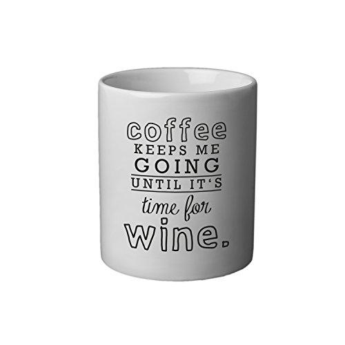 VISUAL STATEMENTS® hochwertige weiße Tasse mit Spruch / Verschiedene Motive und Designs / Kaffeetasse / Teetasse / Mug / Cup / Qualitätskeramik / Einzelne Tasse / Coffee keeps me going