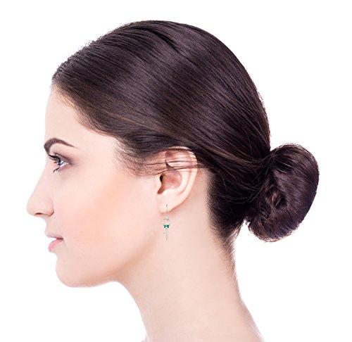 Sterling silver turquoise cross earrings