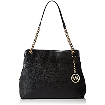 387b55348b02 Amazon.com: Michael Kors Emry Large Crinkled Leather Tote Black: Shoes
