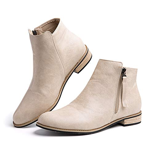 Chelsea Boots Women Ladies Ankle Boots Block Slip on Comfy Shoes Mid Heel Summer Autumn Black Brown Green Pink UK3-UK9…
