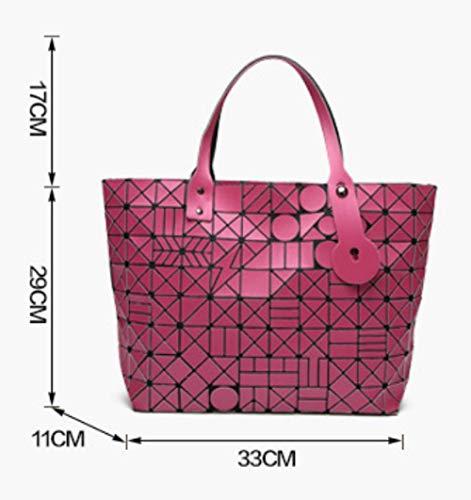 Pieghevoli Messenger Black Borse Donna Bag XZWSJB Geometriche Borse Da Laser Borse Shopping IxzIqUP