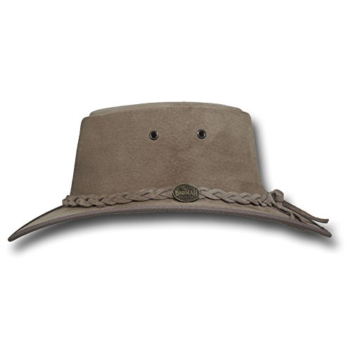 Barmah Hats Foldaway Suede Leather Hat 1066BL / 1066RB / 1066LM / 1066CH - Sand - Large by Barmah Hats (Image #1)