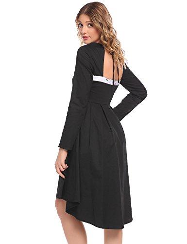 Pat1 Swing Floral Women Vintage Dress Rockabilly s ACEVOG Patchwork 7Yqa8ww