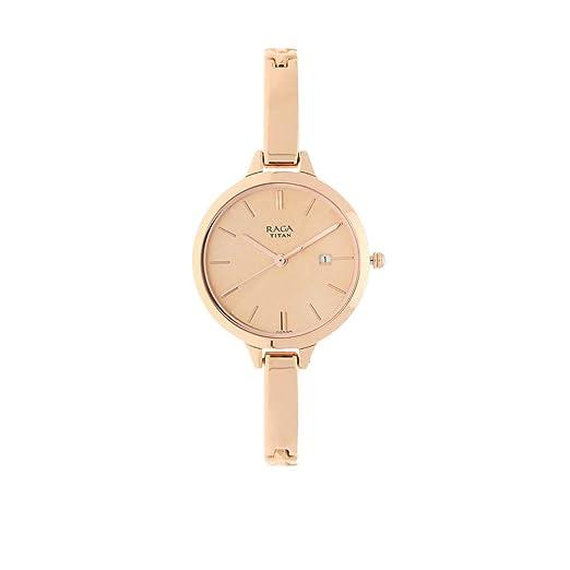 Titan Raga Viva Analog Rose Gold Dial Women's Watch NM2578WM01/NN2578WM01 Men's Wrist Watches