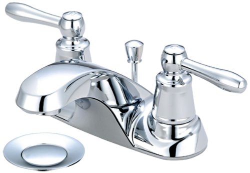 Pvd Brass Lav Drain - Pioneer 3LG130 Two Handle Lavatory Faucet, PVD Polished Chrome Finish