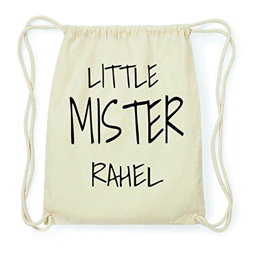 JOllify RAHEL Hipster Turnbeutel Tasche Rucksack aus Baumwolle - Farbe: natur Design: Little Mister