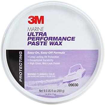 3M Marine Ultra Performance Paste Wax, 09030, 9.5 oz
