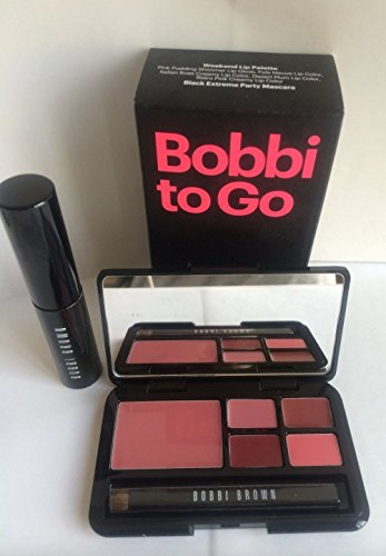 (BOBBI BROWN Bobbi to Go Weekend Lip Palette +Black Extreme Party)