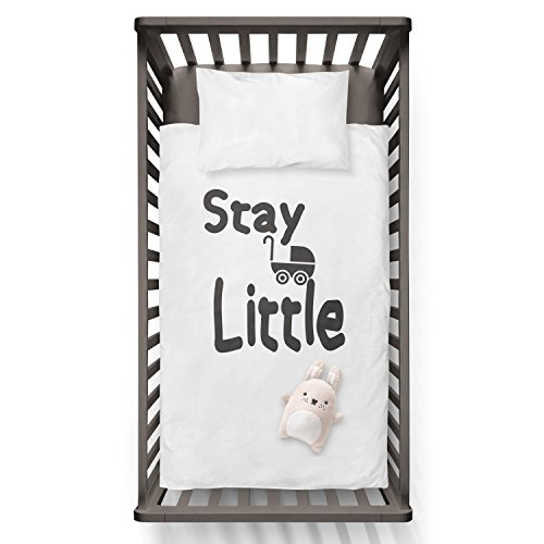 Stay Little Funny Humor Hip Baby Duvet /Pillow set,Toddler Duvet,Oeko-Tex,Personalized duvet and pillow,Oraganic,gift by Jobhome