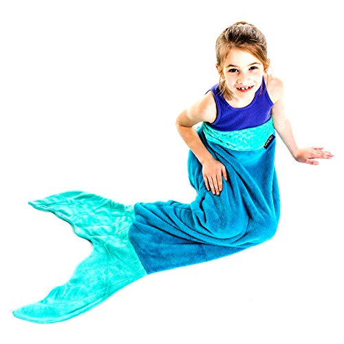 The Original Blankie Tails Mermaid Tail Blanket (Youth Size), Ocean - Kids 2015 Choice Awards