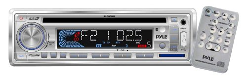 Stereo Radio Headunit Receiver, MP3/USB/SD Readers, CD Player, Aux (3.5mm) Input, AM/FM Radio, Single DIN (White) (Cd Player For 2000 Suburban compare prices)