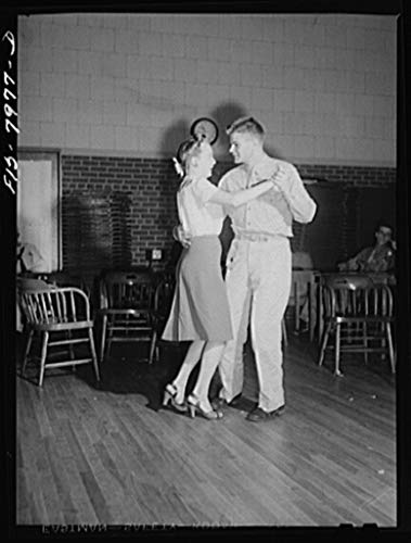 Reproduced Photo of Washington, D.C. Sergeant George Camblair taking his girl dancing at the United Service Organization USO while he is at home on a weekend furlough 1942 Delano C Jack 11a by Vintography