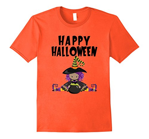 Mens Happy Halloween Witch T-Shirt Funny Scary Pumpkin Tee Shirt 3XL (Happy Halloween Plus Size)