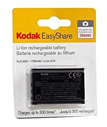 Kodak Klic-5001 Lithium-ion Rechargeable Digital Camera Battery For Z730, Z760, Z7590, Dx6490, Dx7630, Dx7440, P850, P880 & P712 Digital Cameras