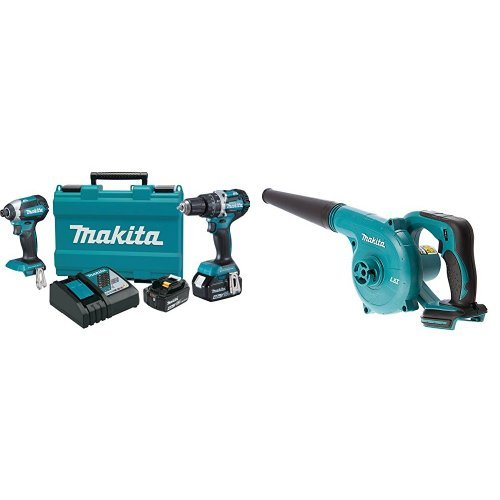 Makita XT269M 18V LXT Lithium-Ion Brushless Cordless 2-Pc. Combo Kit (4.0Ah) with DUB182Z 18V LXT Lithium-Ion Cordless Blower (Bare Tool Only)