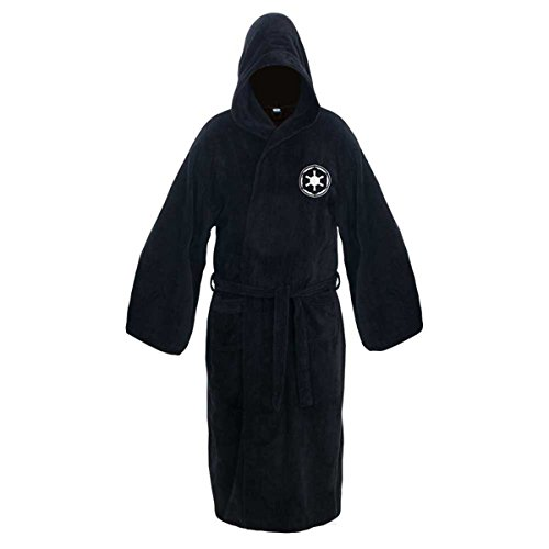 Kasual Adult Unisex Hooded Bath Robe Halloween Dressing Gown Black