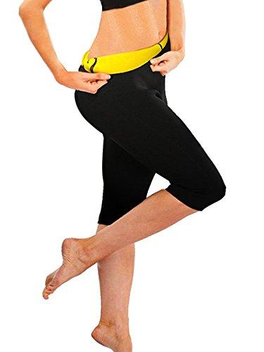 SEXYWG Women Sweat Capri Slimming Pants Hot Thermo Neoprene Sauna Leggings Shapewear