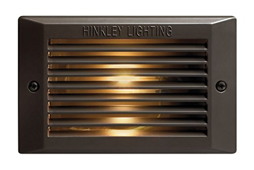 Hinkley Lighting 58009BZ 120V Line Voltage Step Light, 9 Watt CFL G23-2 Light Bulb, Bronze
