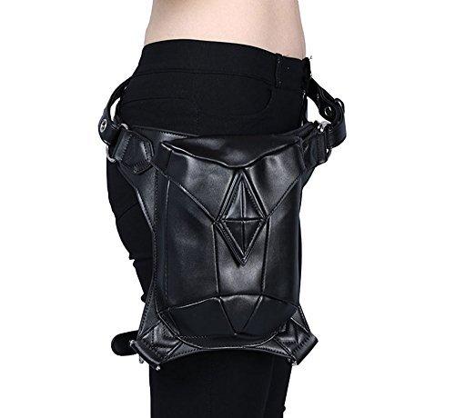 V SHOW Black Men's Shoulder Bag Messenger Bag - 4