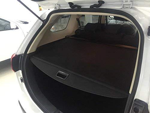 Vesul Black Tonneau Cover Retractable Rear Trunk Cargo Luggage Security  Shade Cover Shield Compatible with Mitsubishi Outlander 2014 2015 2016 2017