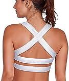 SHAPERX Women's Sports Bra Padded Breathable High