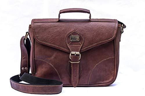 Fashion Accessories Sale : Brown - Pascado Small brown genuine Leather Crossbody shoulder satchel travel purse handbag for womens