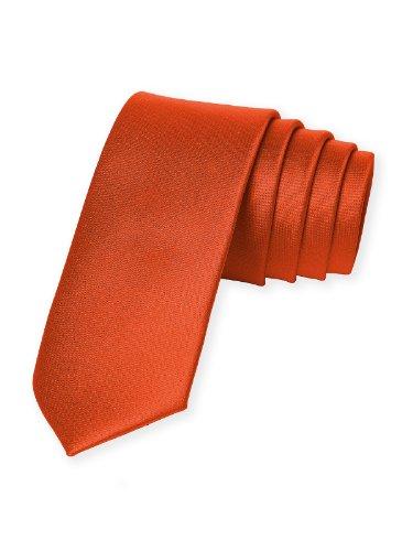 Men's Custom Matte Satin Skinny Ties by Dessy - Tangerine Tango (Neckties Tango)