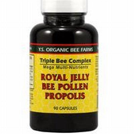 Y.S. Organic Triple Bee Complex — 90 Capsules / Royal