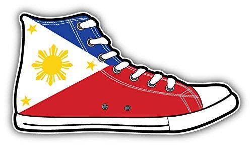 - Philippines Flag Shoes Art Decor Bumper Sticker 6'' x 3''