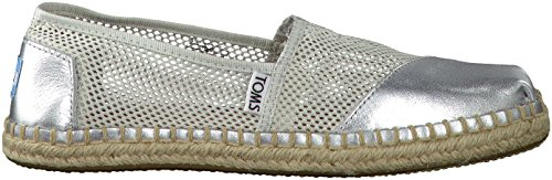 Toms Womens Classic Mesh Slip On Casual Shoe, Silver, US 9.5