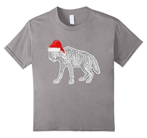Hyena Costumes (Kids Santa Hat Hyena Costume Funny T Shirt Christmas Safari Gift 8 Slate)