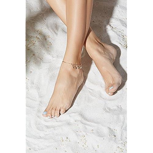 Anklet Feet Snake Chain Charm Bracelet String Padlock Bangle Golden Women Jewelry
