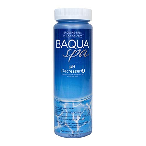 (Baqua Spa 83819 Decreaser with Mineral Salts Spa pH Balancer, Clear)