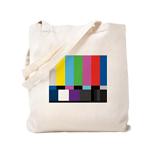 CafePress SMPTE Standard Definition Television Color Bars EG Natural Canvas Tote Bag, Cloth Shopping Bag