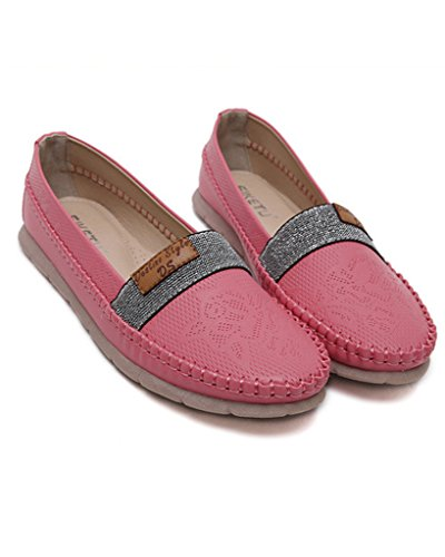 Women Pumps Business Shoes Vintage Red Fashion Casual Comfortable Shoes Closed Flat Minetom Loafer Leisure Toe Shoes OqvHwnd