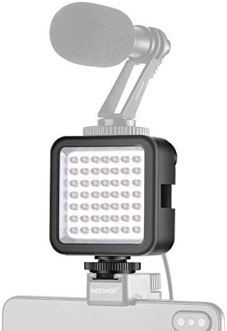 Neewer Ultrahelle Mini LED Videoleuchte 49 dimmbare Hochleistungs LED Videoleuchten für DJI Ronin-S OSMO Mobile 2 Zhiyun WEEBILL Smooth 4 Gimbal Canon Nikon Sony DSLR Kameras