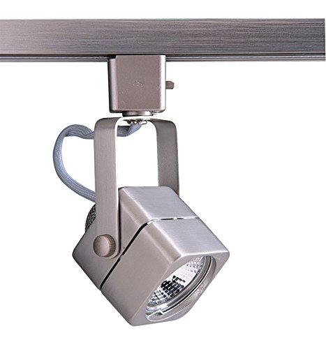 Kendal Lighting TLGU-15-BST   Designers Choice 1 Light 120V GU10 Track Head, Brushed Steel Finish