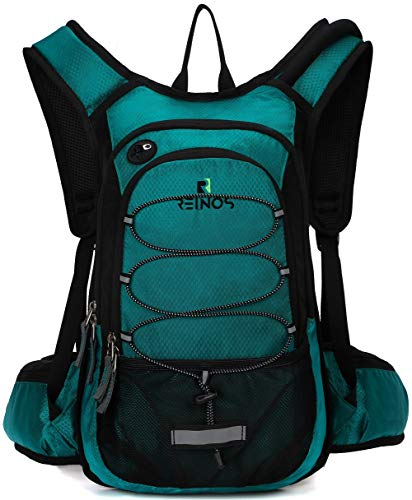 REINOS Hydration Backpack with 2L Bladder for Men & Women, Daypack with Thermal Insulation | Great for Hiking, Running, Cycling, Camping, Skiing, Outdoor Activities (Green) (Best Store Bought Stuffing 2019)