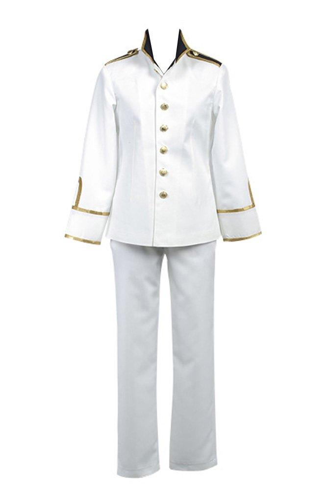 Hetalia: Axis Powers Japan Uniform Cosplay Kostüm Herren Weiß M