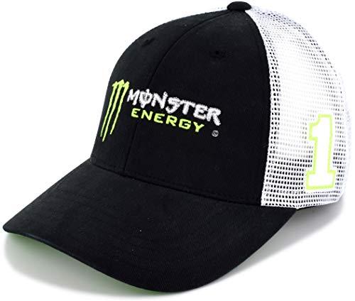 Checkered Flag Kurt Busch 2019 Monster #1 NASCAR Draft Mesh Hat