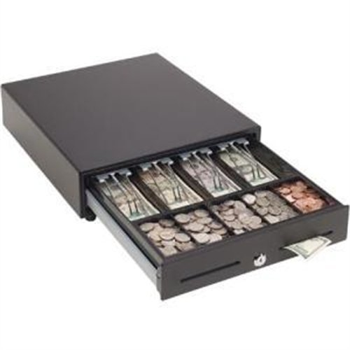 Mmf Cash Drawer MMF-VAL1416E-04 MMF Val-U Line Electronic Cash Drawer, 4 Bill/5 Coin Till, Printer-Driven, 14